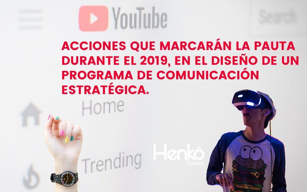 Tendencias del área de comunicación para el 2019